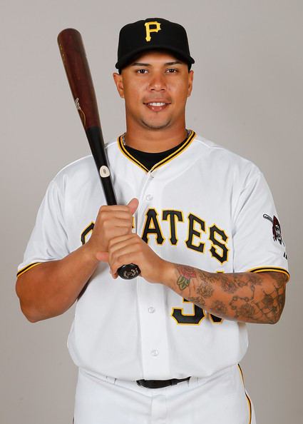 Outfielder Jose Tabata with the Pittsburgh Pirates