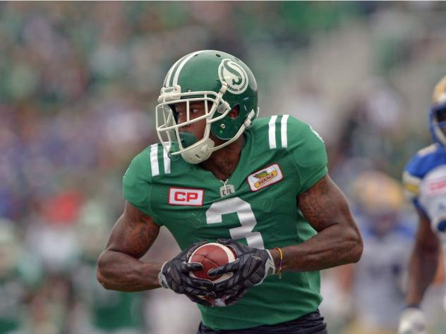 Receiver Ricky Collins with the Saskatchewan Roughriders