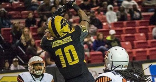 Wide Receiver Tyron Laughinghouse with the Wichita Falls Nighthawks