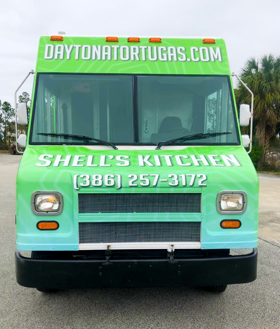 Daytona Tortugas Shell's Kitchen food truck - front