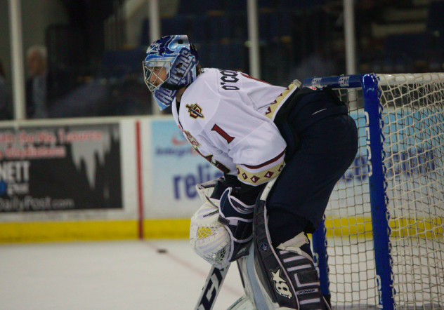 Goaltender Matt O'Connor with the Atlanta Gladiators