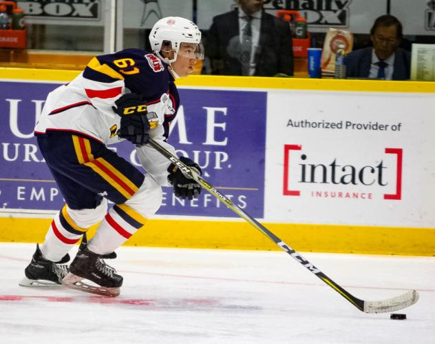 Ryan Suzuki of the Barrie Colts