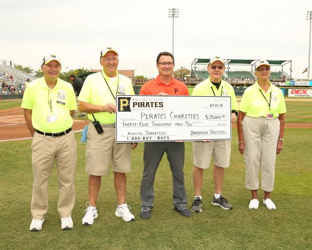Bradenton Boosters Make Annual Donation to Pirates Charities