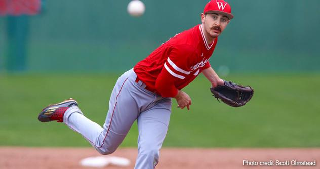 Pitcher Jensen Kirch with Wabash College