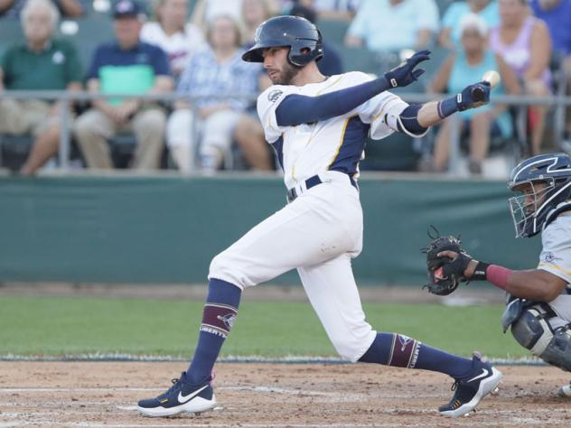 Somerset Patriots Outfielder Justin Pacchioli