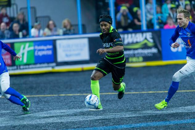 Milwaukee Wave Forward Max Ferdinand races upfield vs. Cedar Rapids