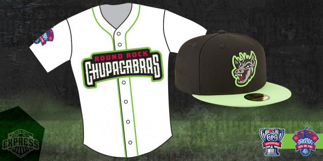 Round Rock Express Chupacabras jersey and hat