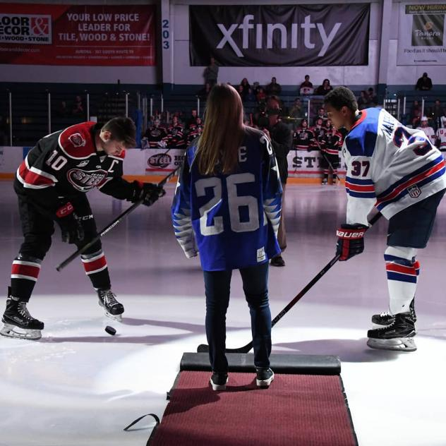 Chicago Steel pregame faceoff