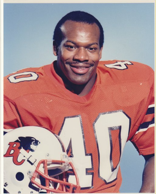 James 'Quick' Parker with the BC Lions