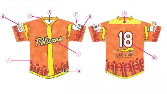 Myrtle Beach Pelicans Special Olympics Jersey