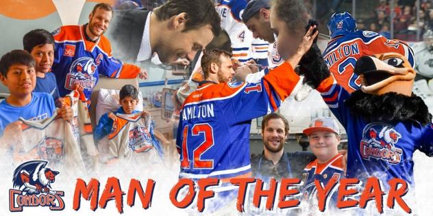 Bakersfield Condors Man of the Year Ryan Hamilton