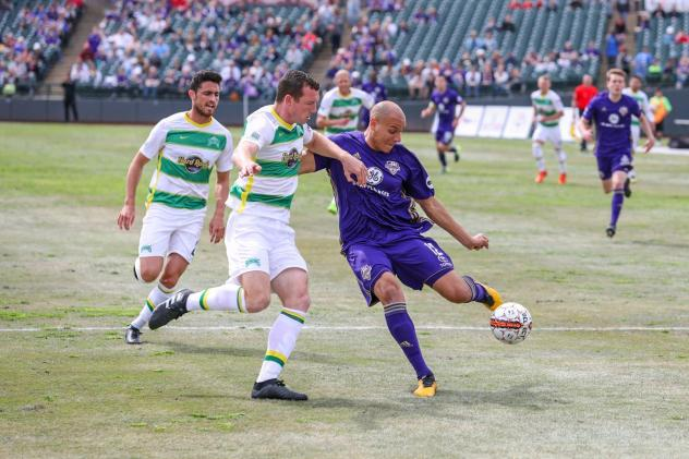 Louisville City FC corrals the ball vs. the Tampa Bay Rowdies