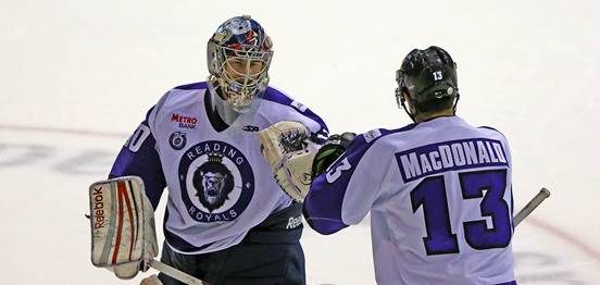 Goaltender Philipp Grubauer with the Reading Royals