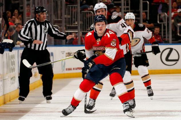 Forward Owen Tippett with the Florida Panthers