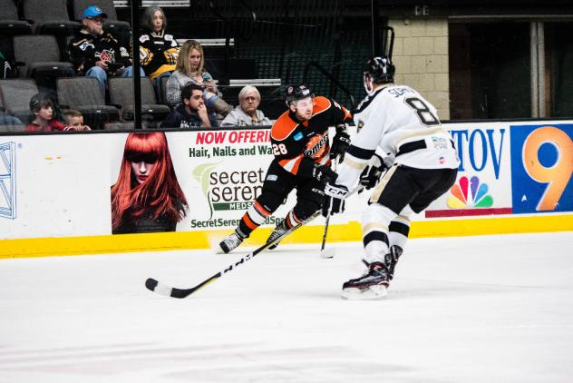 Forward Louick Marcotte with the Fort Wayne Komets