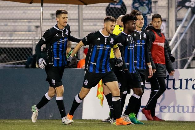 Colorado Springs Switchbacks enter the field