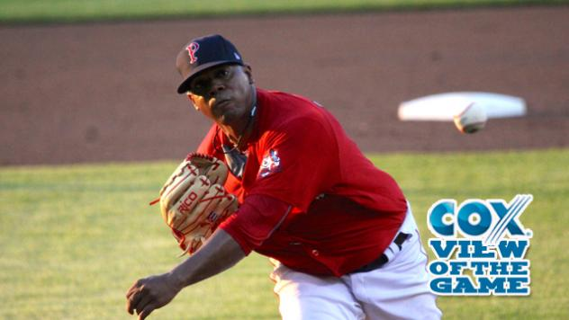 Pawtucket Red Sox pitcher Roenis Elias