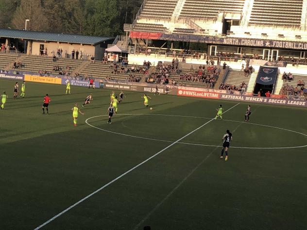 The North Carolina Courage face Seattle Reign FC