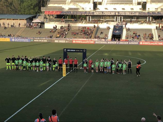 The North Carolina Courage pregame