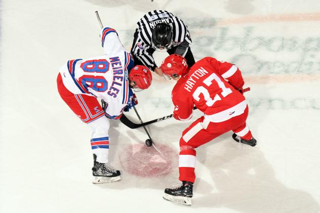 Kitchener Rangers face off with the Sault Ste. Marie Greyhounds