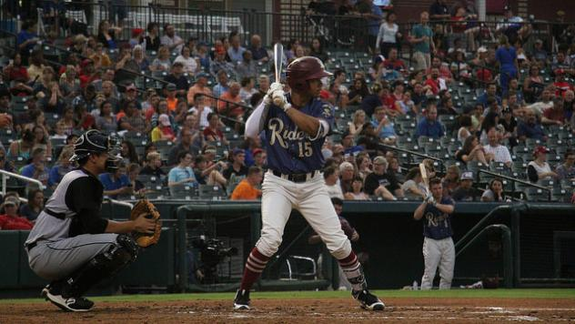 James Dykstra of the Frisco RoughRiders at the plate