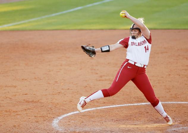 Pitcher Paige Lowary with the University of Oklahoma