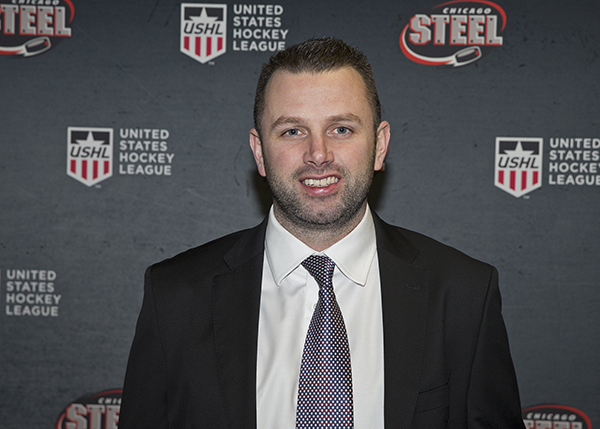 Chicago Steel Head Coach Ryan Cruthers