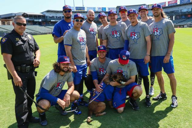 Round Rock Express, Round Rock Police Department with K-9 unit Vada