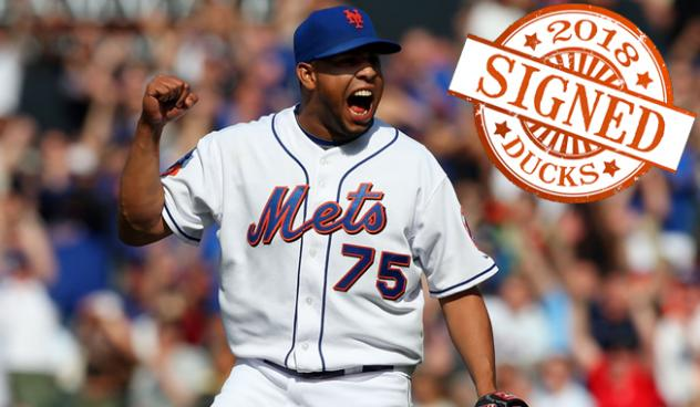 Pitcher Francisco Rodriguez with the New York Mets