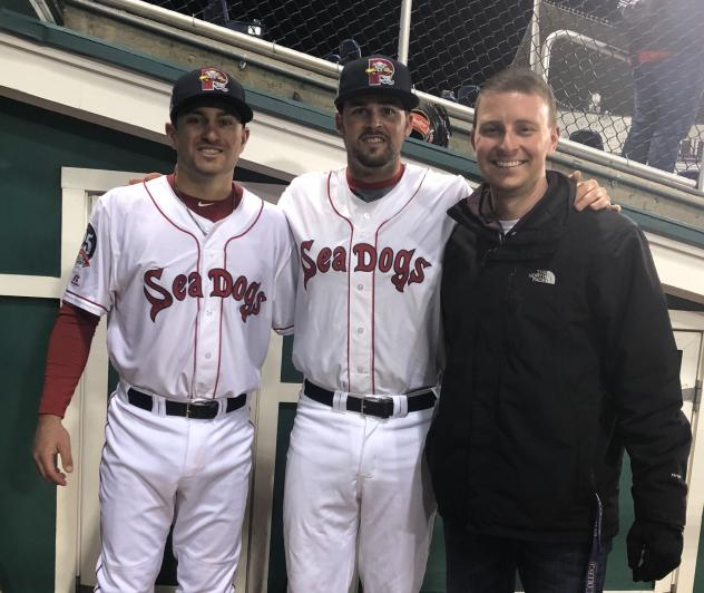 Nick Lovullo and Jordan Betts of the Portland Sea Dogs
