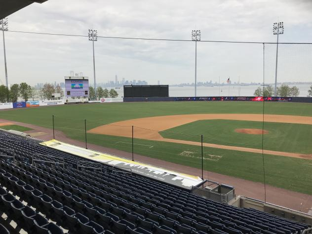 New third base netting at Richmond County Bank Ballpark