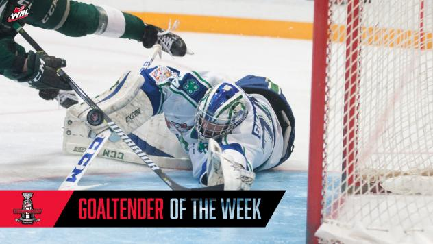 Swift Current Broncos goaltender Stuart Skinner