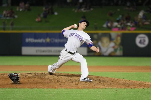Tim Lincecum on the mound for the Round Rock Express