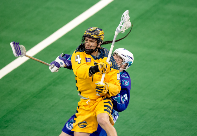 Lyle Thompson of the Georgia Swarm vs. the Rochester Knighthawks