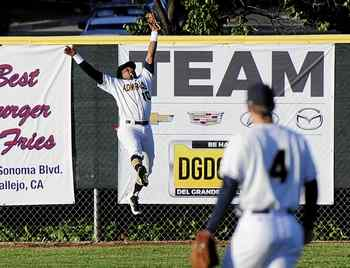 Vallejo Admirals make a leaping catch