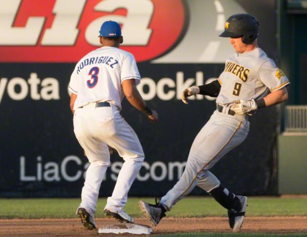 JC Rodriguez of the Rockland Boulders vs. the Sussex County Miners