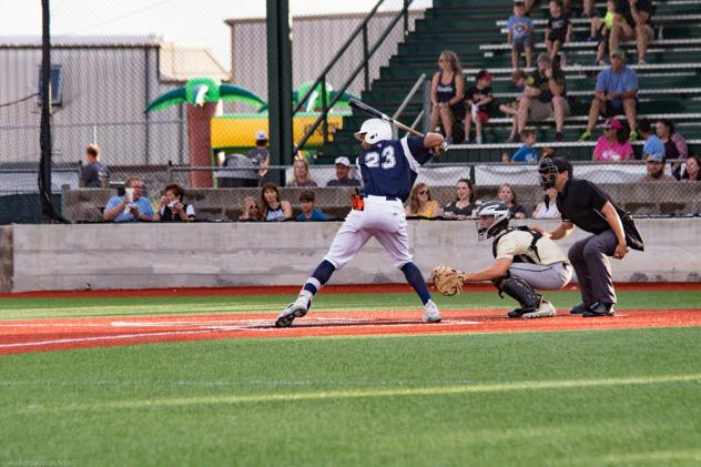 Brazos Valley Bombers at the plate