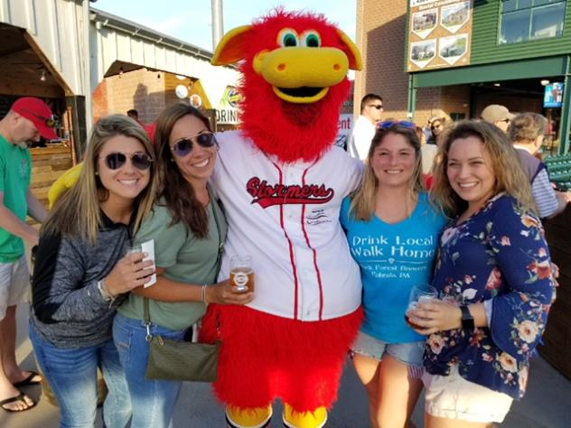 Lancaster Barnstormers mascot Cylo and fans