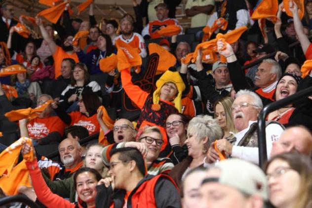 Lehigh Valley Phantoms fans enjoy the action