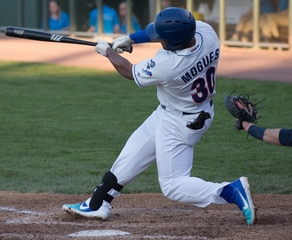 Mikael Mogues of the Rockland Boulders