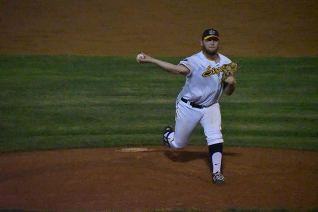 Willmar Stingers deliver a pitch
