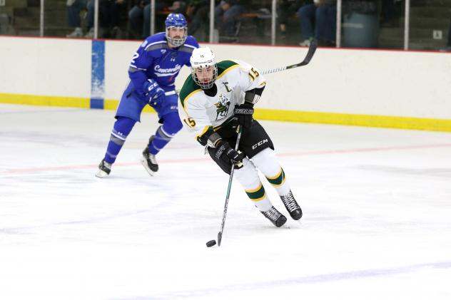 Forward Tanner Froese with St. Norbert College