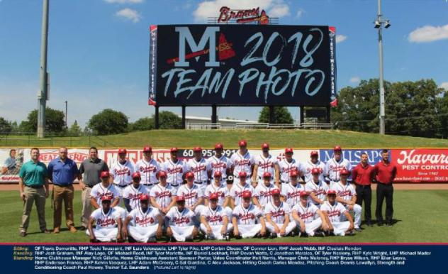 2018 Mississippi Braves team photo