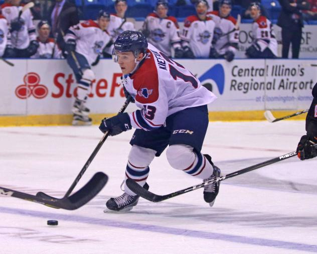 Calen Kiefiuk of the Central Illinois Flying Aces