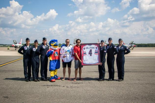 Springfield Thunderbirds Present Gift to U.S. Air Force Thunderbirds