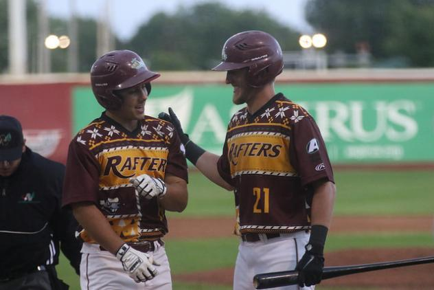 Wisconsin Rapids Rafters share a laugh