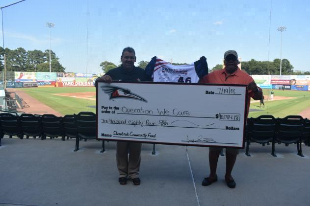 Delmarva Shorebirds Present Donation to Operation We Care