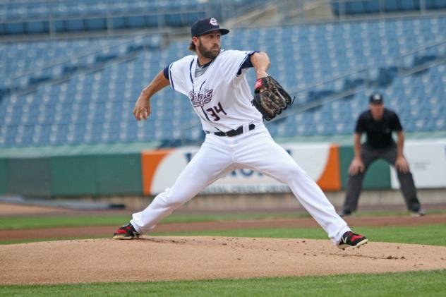 Brady Dragmire of the Syracuse Chiefs allowed two runs in four innings Wednesday