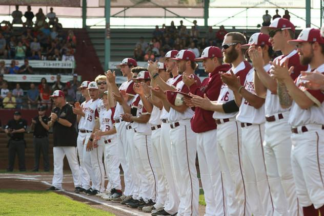 Wisconsin Rapids Rafters salute their fans