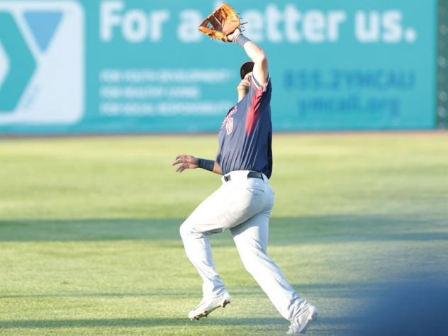 Somerset Patriots infielder Alfredo Rodriguez looks for the ball